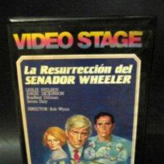Cine: BETA VIDEO LA RESURRECCIÓN DEL SENADOR ZACARÍAS WHEELER CIENCIA FICCION 1ª EDICION CAJA GRANDE. Lote 130523870