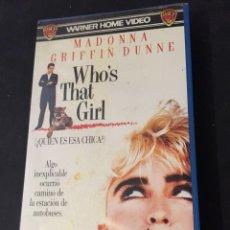 Cine: BETA VIDEO WHO'S THAT GIRL? ¿QUIÉN ES ESA CHICA? MADONNA GRIFFIN DUNNE WARNER HOME VIDEO 1ª EDICION. Lote 131065148