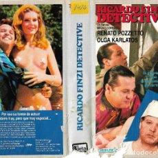 Cine: RICARDO FINZI DETECTIVE - RENATO POZZETO / BRUNO CORBUCCI - UNICA EN TC - REGALO MONTAJE SOBRE. Lote 131134728