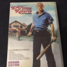 Cine: BETA VIDEO EL ULTIMO RECURSO CHARLES DURNING NO EDITADA EN DVD . Lote 131230403