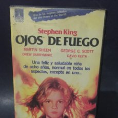 Cine: BETA OJOS DE FUEGO DREW BARRYMORE GEORGE C. SCOTT STEPHEN KING 1ª EDICION VIDEO THORN EMI. Lote 131475314