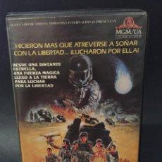 Cine: BETA GUERREROS DEL SOL RICHARD JORDAN JAMI GERTZ FUTURO POSTAPOCALIPTICO 1ª EDICION CAJA GRANDE. Lote 132127402