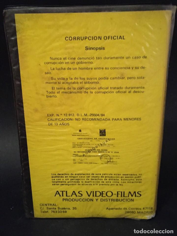 Cine: BETA VIDEO CORRUPCION OFICIAL Silvia MariscaL CARATULA MAC MACARIO GOMEZ UNICA EN TC NO EDITADA DVD - Foto 2 - 133056330