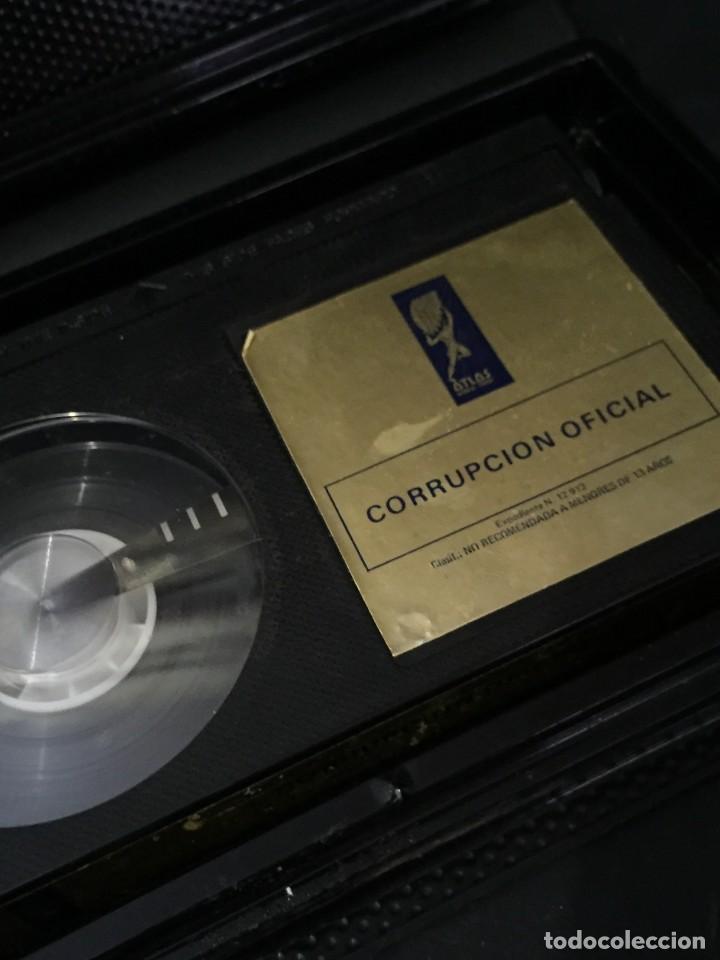 Cine: BETA VIDEO CORRUPCION OFICIAL Silvia MariscaL CARATULA MAC MACARIO GOMEZ UNICA EN TC NO EDITADA DVD - Foto 3 - 133056330