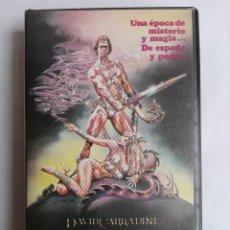 Cine: BETA - EL GUERRERO Y LA HECHICERA - DAVID CARRADINE, MARIA SOCAS - ESPADA Y BRUJERÍA. Lote 136761942