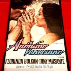 Cine: ANONIMO VENECIANO (1970) - VIDEO TECHNICS. Lote 148066180