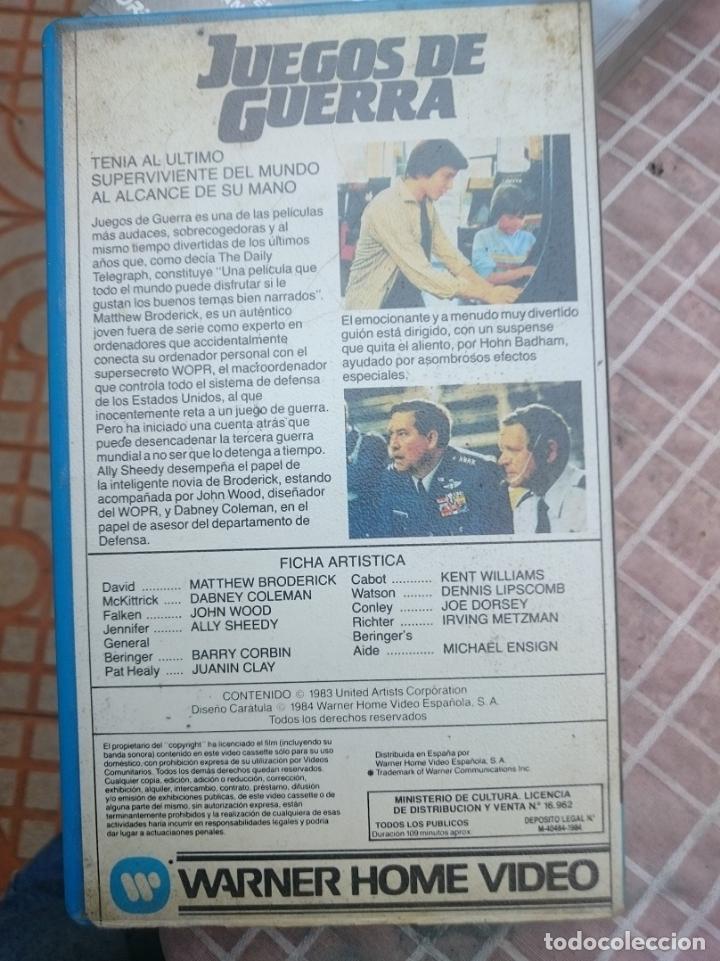 Cine: BETA - JUEGOS DE GUERRA cinta en mal estado supuestamente -VER FOTOS - Foto 2 - 147108730