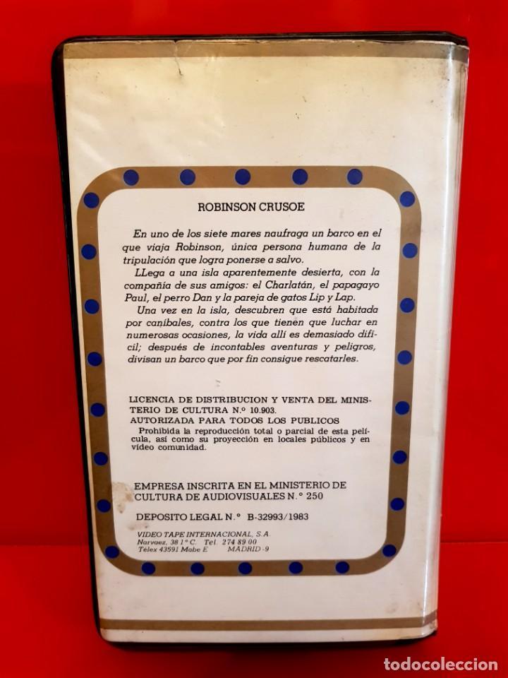 Cine: ROBINSON CRUSOE EL RETORNO A LA JUNGLA - DESCATALOGADÍSIMA - Foto 2 - 148105466