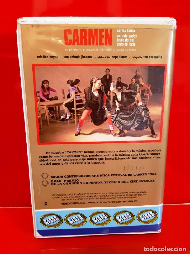 Cine: CARMEN.CINE ESPAÑOL DE LOS 80 - VIDEODISCO - Foto 2 - 148656466