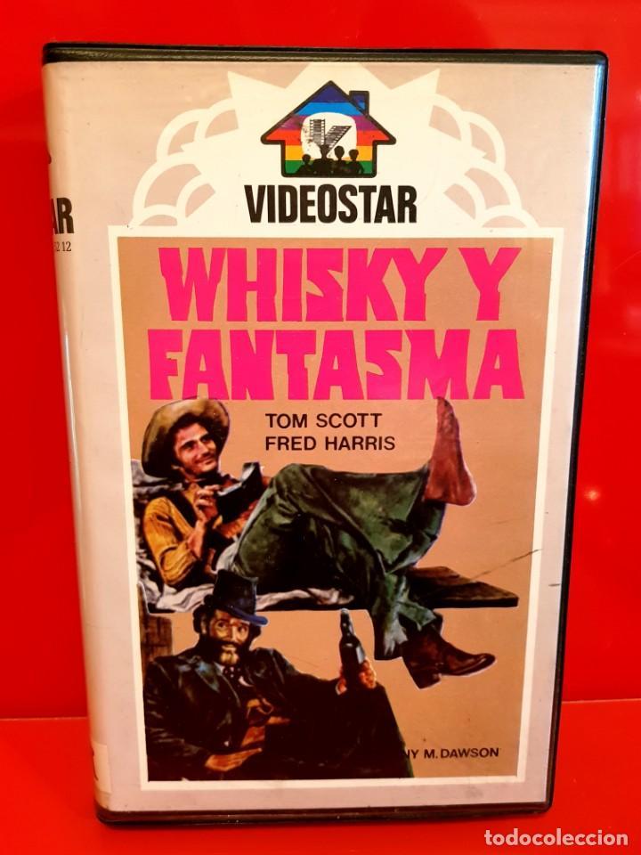 Cine: WHISKY Y FANTASMA (1976) - Fantasma en el Oeste / Rareza Comedia/Western Videostar UNICA EN TC! - Foto 2 - 151906106