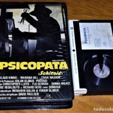 Cine: PSICOPATA (SCHIZOID) - KLAUS KINSKI, MARIANA HILL, DAVID PAULSEN - BETAMAX CAJA GRANDE VIDEOCLUB. Lote 152231542