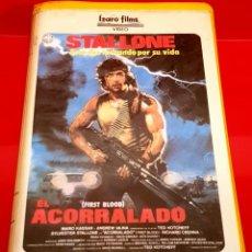 Cine: RAMBO - FIRST BLOOD (1982). 1ª EDICIÓN! EL ACORRALADO IZARO FILMS (BETA). Lote 152369806