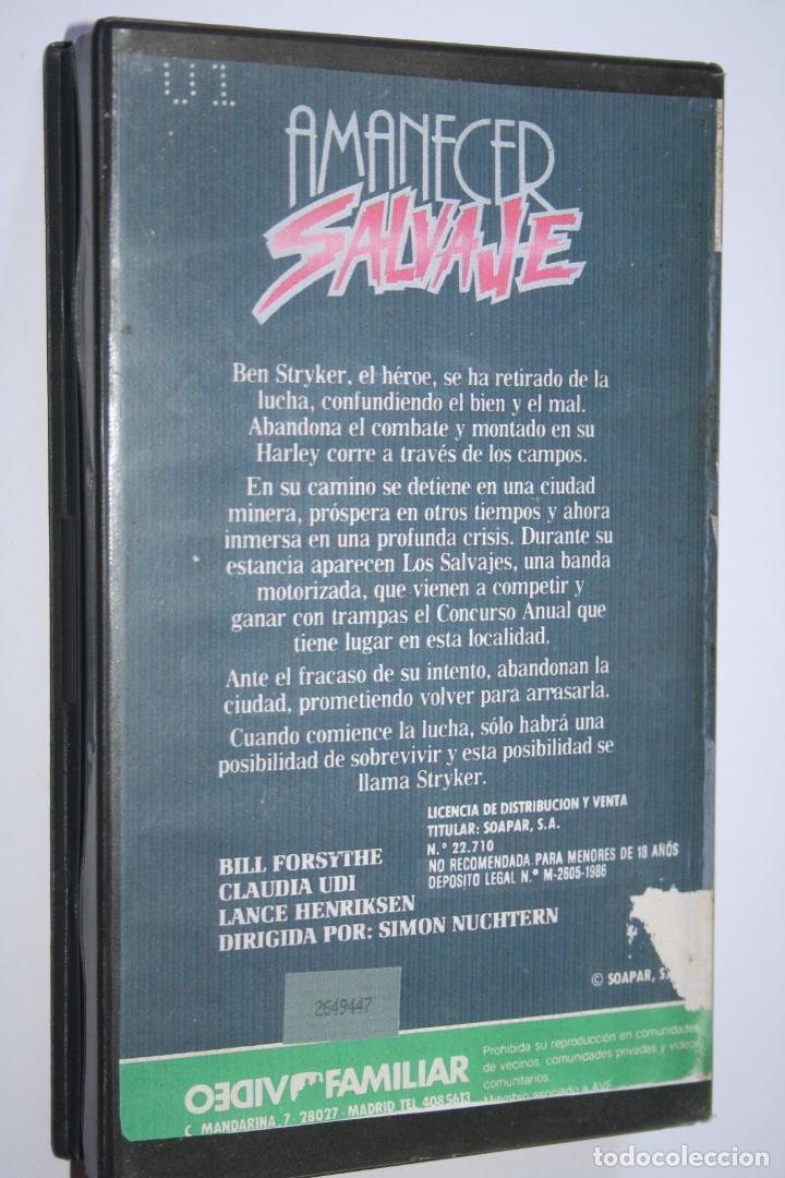 Cine: AMANECER SALVAJE *** PELÍCULA BETA ACCIÓN / SUSPENSE *** SOAPAR (1986) - Foto 2 - 154512686