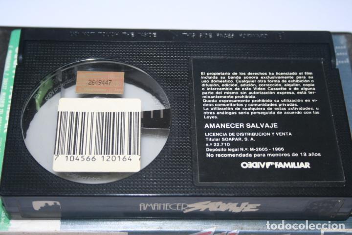 Cine: AMANECER SALVAJE *** PELÍCULA BETA ACCIÓN / SUSPENSE *** SOAPAR (1986) - Foto 3 - 154512686
