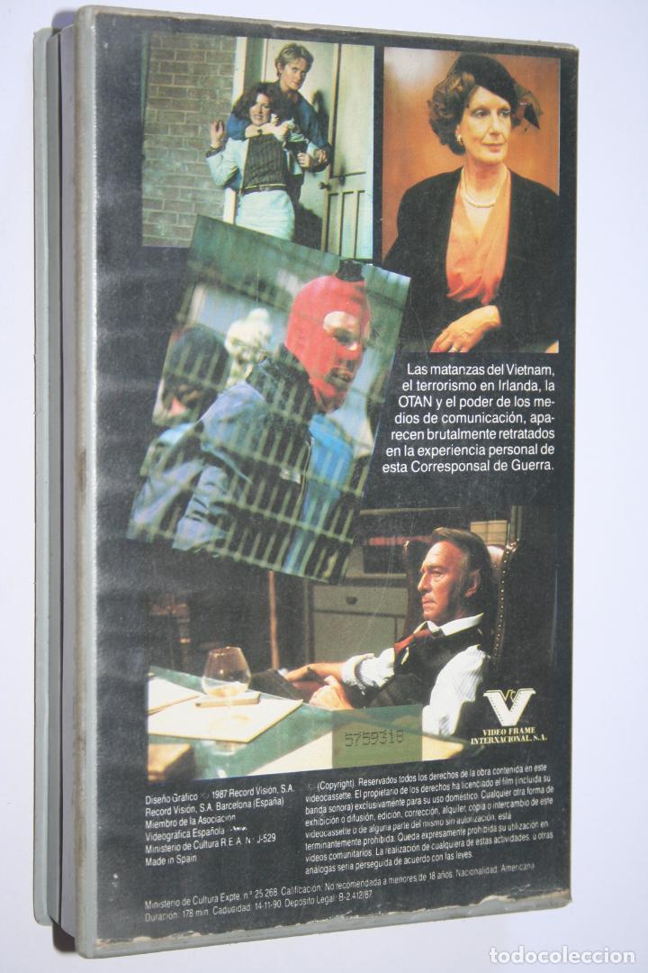 Cine: CORRESPONSAL DE GUERRA *** PELÍCULA BETA INTRIGA / SUSPENSE *** RECORD VISION (1987) - Foto 2 - 154513078