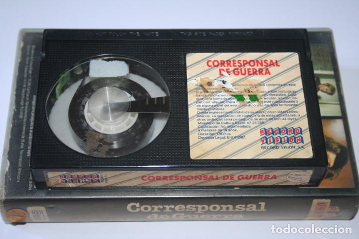 Cine: CORRESPONSAL DE GUERRA *** PELÍCULA BETA INTRIGA / SUSPENSE *** RECORD VISION (1987) - Foto 5 - 154513078