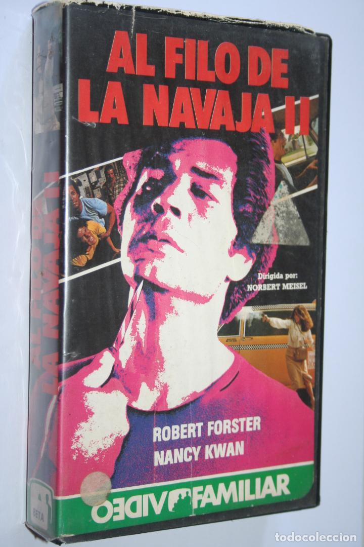AL FILO DE LA NAVAJA 2 *** PELÍCULA BETA ACCION *** VIDEO FAMILIAR (1985) (Cine - Películas - BETA)