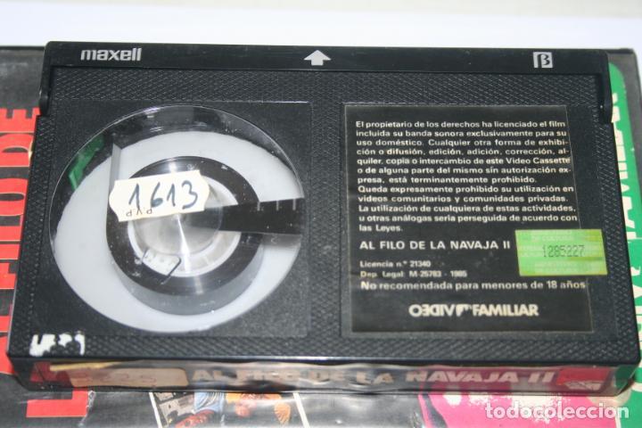 Cine: AL FILO DE LA NAVAJA 2 *** PELÍCULA BETA ACCION *** VIDEO FAMILIAR (1985) - Foto 3 - 154653038