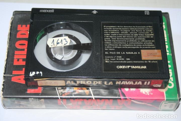 Cine: AL FILO DE LA NAVAJA 2 *** PELÍCULA BETA ACCION *** VIDEO FAMILIAR (1985) - Foto 4 - 154653038