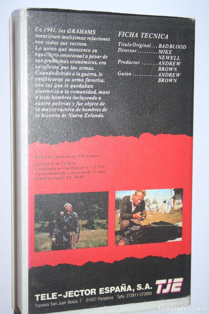 Cine: BAD BLOOD *** PELÍCULA BETA ACCIÓN / DRAMA *** TELE JECTOR ESPAÑA (1985) - Foto 2 - 154655670