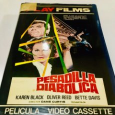 Cine: PESADILLA DIABÓLICA BETA - DAN CURTIS - KAREN BLACK - OLIVER REED - BETTE DAVIS. Lote 154854626