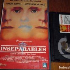 Cine: INSEPARABLES - GENEVIEVE BUJOLD, JEREMY IRONS, DAVID CRONENBERG - BETA. Lote 156004330
