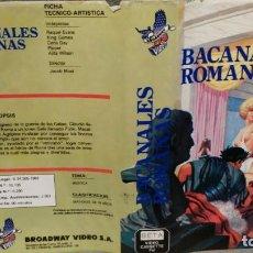 Cine: SOLO CARATULA SIN CINTA - BACANALES ROMANAS. Lote 156324642