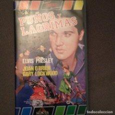 Cine: ELVIS PRESLEY. PUÑOS Y LAGRIMAS ORIGINAL 1986 JOAN O'BRIEN MGM HOME MGM HOME VIDEO. Lote 164037434