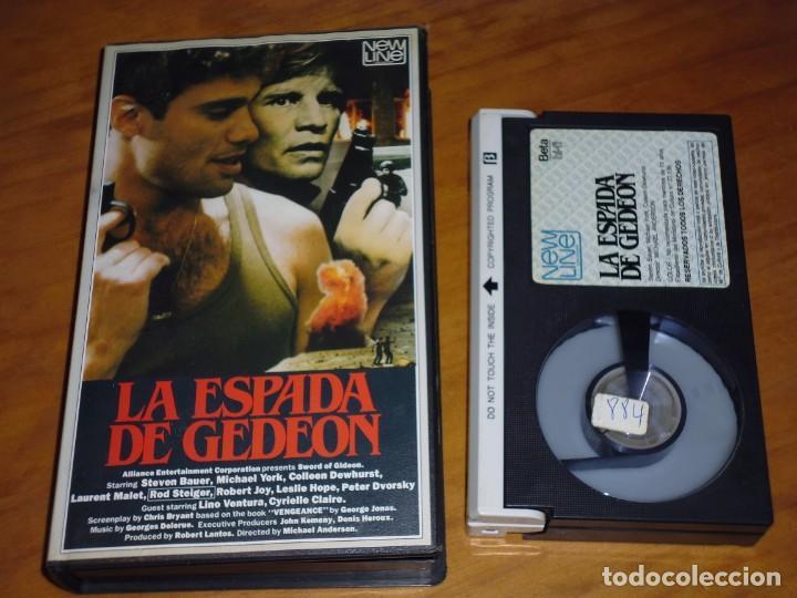 LA ESPADA DE GEDEON . ROD STEIGER, MICHAEL YORK - BETAMAX . PEDIDO MINIMO 6 EUROS (Cine - Películas - BETA)