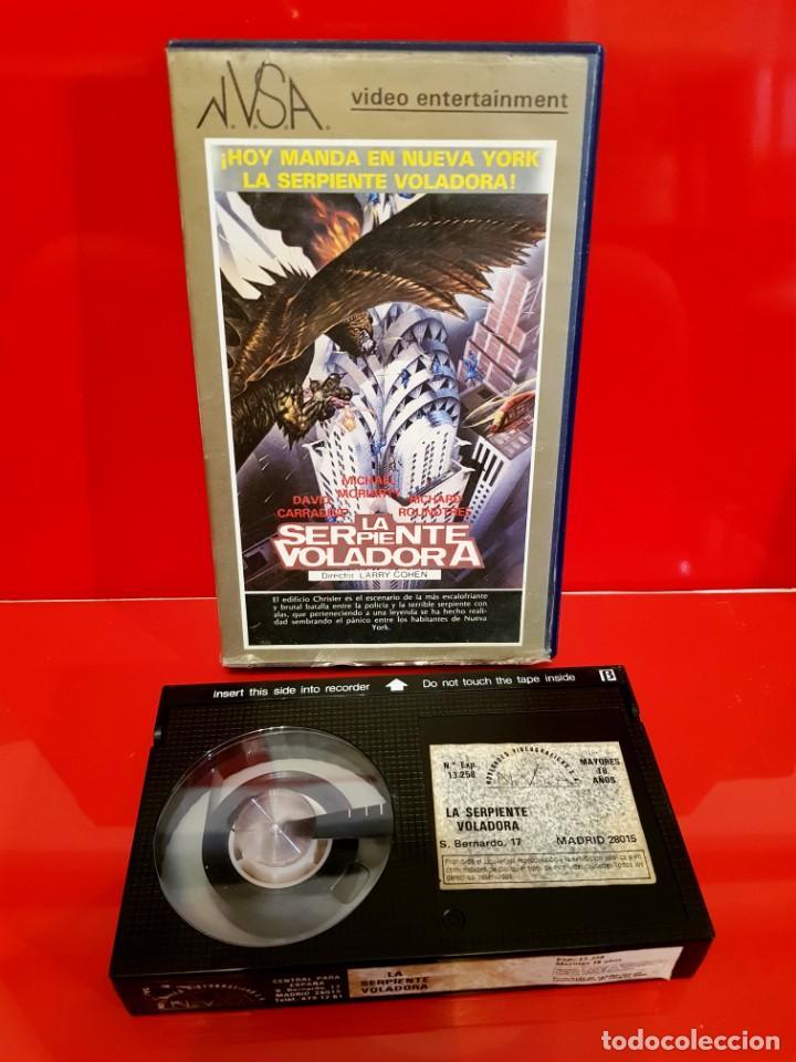 Cine: LA SERPIENTE VOLADORA (1982) - LARRY COHEN - CLASICO TEROR 80S - Foto 3 - 170389108