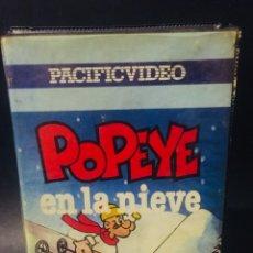 Cine: BETA POPEYE EN LA NIEVE DIBUJOS ANIMADOS ANIMACION 1ª EDICION CAJA GRANDE PACIFIC VIDEO. Lote 173175738