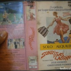 Cine: SONRISAS Y LA GRIMAS¡1 EDICCION¡¡BETA¡DISPONEMOS,MAS 60.000,PELICULAS.EN¡VHS,BETA,2000¡. Lote 179044877