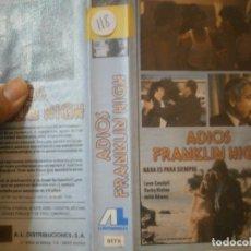 Cine: ADIOS FRANKLIN HIGH¡¡1 EDICCION¡¡BETA¡DISPONEMOS,MAS 60.000,PELICULAS.EN¡VHS,BETA,2000¡. Lote 179045297