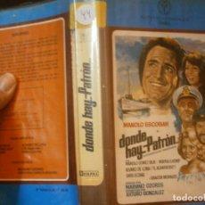 Cine: DONDE HAY PATRON'1 EDICCION¡¡BETA¡DISPONEMOS,MAS 60.000,PELICULAS.EN¡VHS,BETA,2000¡. Lote 179045635