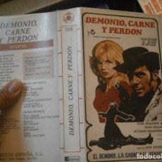 Cine: DEMONIO CARNE Y PERDON¡1 EDICCION¡¡BETA¡DISPONEMOS,MAS 60.000,PELICULAS.EN¡VHS,BETA,2000¡. Lote 179045931