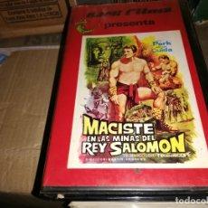 Cine: MACISTE EN LAS MINAS DEL REY SALOMON V2000 ORIGINAL SISTEMA VIDEO 2000 REG PARK PEPLUM. Lote 180164702