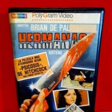 Cine: HERMANAS (1982) SISTERS - BRIAN DE PALMA , JENNIFER SALT - SPECTRUM TERROR CULTO BETA. Lote 189451680