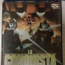 Cine: LA CONQUISTA DE LA TIERRA GALÁCTICA CINTA BETA 1980 MUY RARA Y DIFÍCIL DE ENCONTRAR!!!! VER FOTOS!!. Lote 190021843