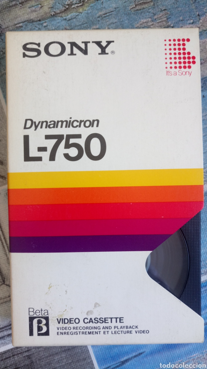 VIDEO CASETE SONY DYMAMICRON L-750 BETAMAX (Cine - Películas - BETA)