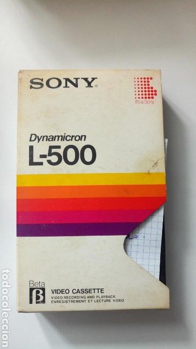 CINTA SONY DYNAMICRON L-500 BETA VIDEO CASETE BETAMAX (Cine - Películas - BETA)