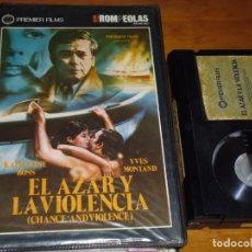 Cine: EL AZAR Y LA VIOLENCIA - YVES MONTAND, KATHARINE ROSS - PSEUDO GIALLO - BETA. Lote 191354552