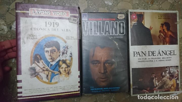 3 PELICULAS AÑOS 80 VIDEO 2000 V2000 PAN DE ANGEL , EL VILLANO Y 1919 CRONICA DEL ALBA AÑOS 80 (Cine - Películas - BETA)