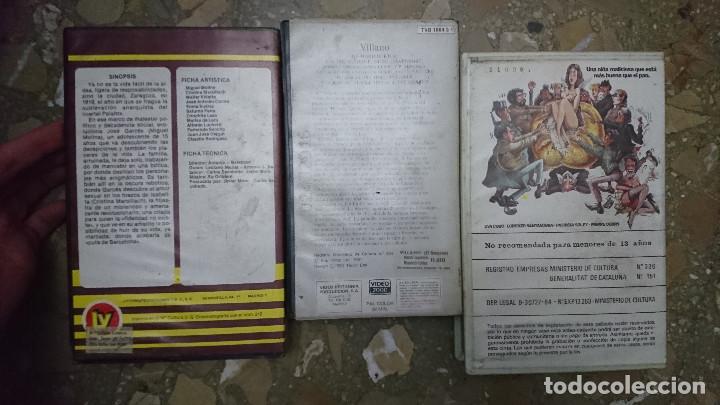 Cine: 3 PELICULAS AÑOS 80 VIDEO 2000 V2000 PAN DE ANGEL , EL VILLANO Y 1919 CRONICA DEL ALBA AÑOS 80 - Foto 2 - 192493750