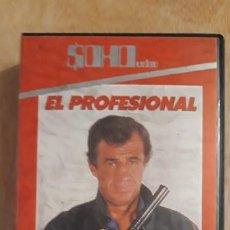Cine: 1 VIDEO BETA DE - **. EL PROFESIONAL BELMONDO. R. HOSSEIN ** SOHO1987 D. EQUILATERO SIN REVISAR . Lote 194594451