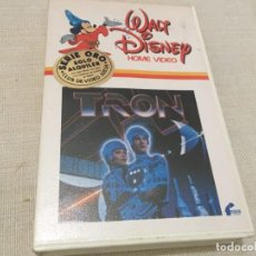 Cine: BETA VIDEO TRON JEFF BRIDGES 1ª EDICION CAJA GRANDE WALT DISNEY CAJA BLANCA . Lote 195908253