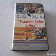 Cine: BETA VIDEO ESTACION POLAR CEBRA JOHN STURGES ROCK HUDSON ERNEST BORGNINE MGM. Lote 240344140