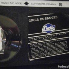 Cine: ORGIA DE SANGRE¡BETA SIN CARATULA. Lote 202827336