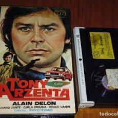Cine: TONY ARZENTA - ALAIN DELON , RICHARD CONTE , CARLA GRAVINA . DUCCIO TESSARI - POLIZIESCO - BETA. Lote 207031970