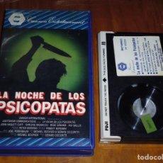 Cine: LA NOCHE DE LOS PSICOPATAS - TERROR / SLASHER - BETA. Lote 207032795
