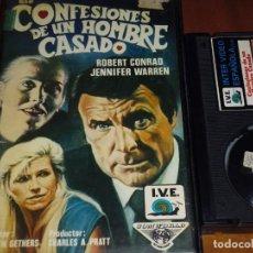 Cine: CONFESIONES DE UN HOMBRE CASADO - ROBERT CONRAD, JENNIFER WARREN - BETA. Lote 207146978